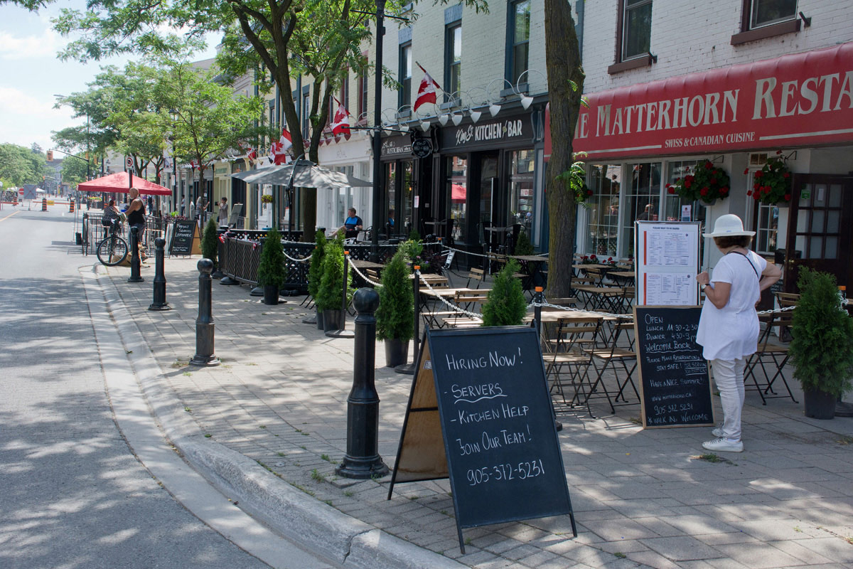 Welcome Back to Downtown Cobourg - Restaurants getting ready
