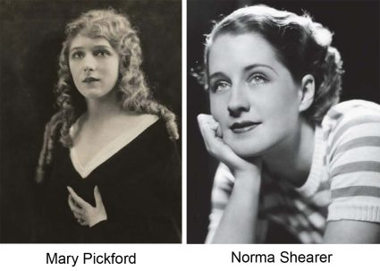 Mary Pickford and Norma Shearer