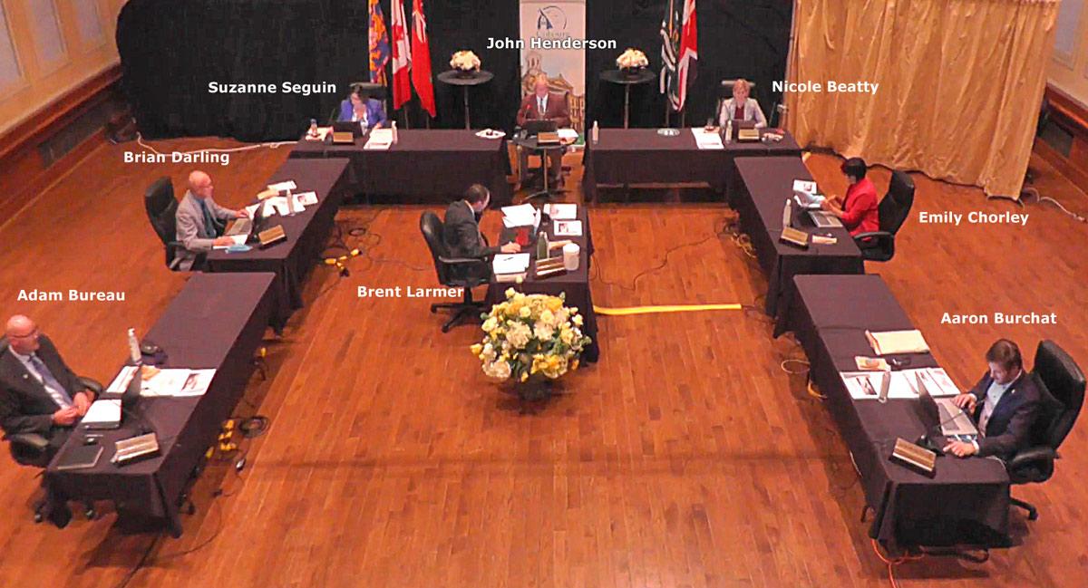 Council Meeting at Victoria Hall
