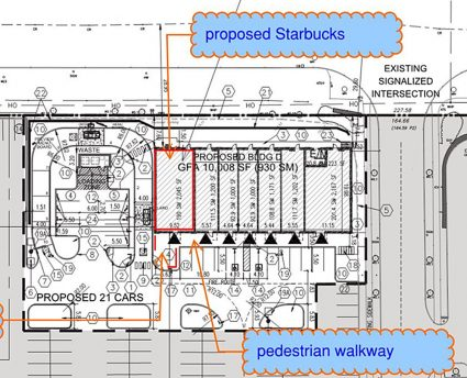 New Plaza with Starbucks