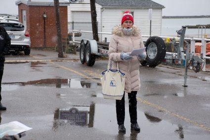 Teresa Behan at East Pier COW