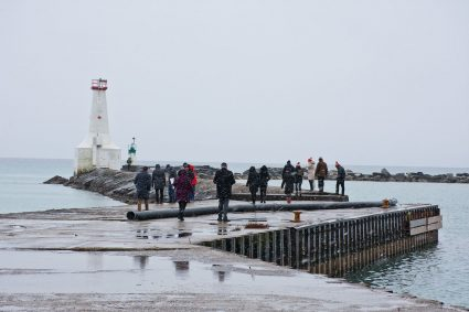 Council meeting on East Pier
