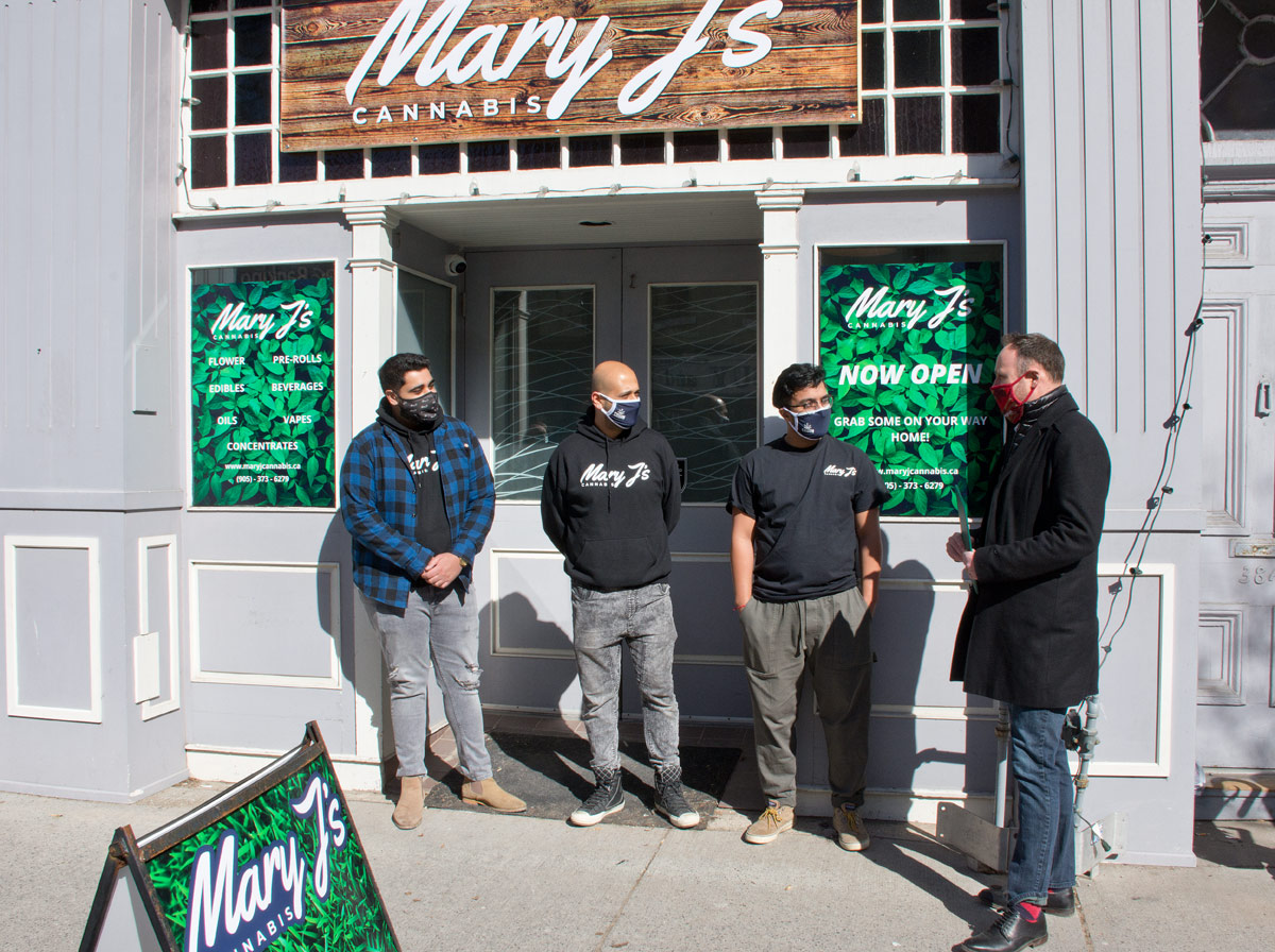 Mary J's Opening - Owners with Philip Lawrence at right