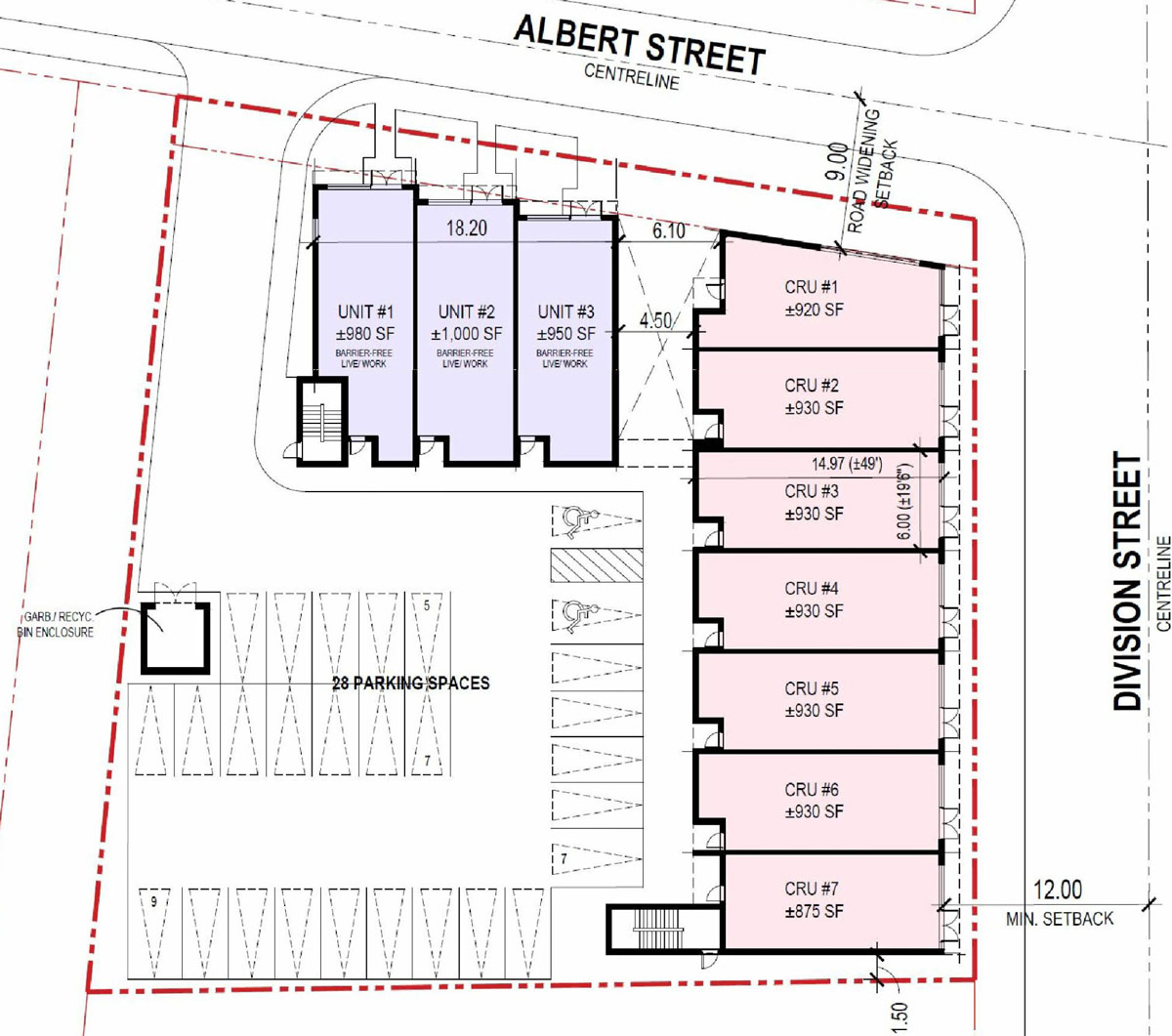Beachwalk Flats site plan