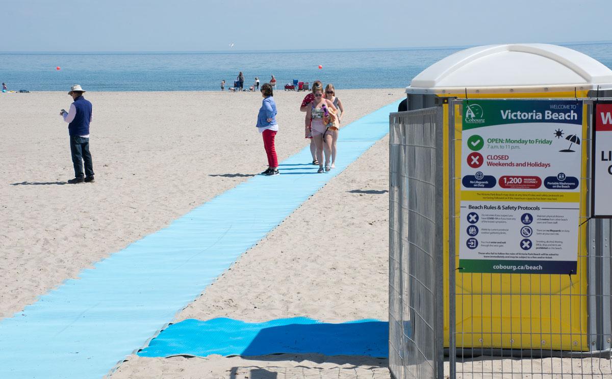 Beach with mat - 1 June 2021