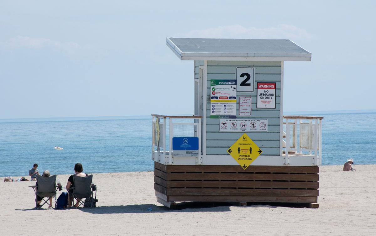 Unoccupied Lifeguard hut