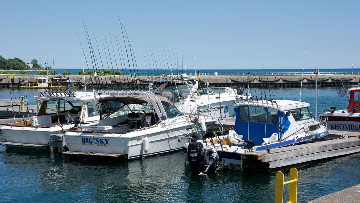 Charter Fishing Boats ready
