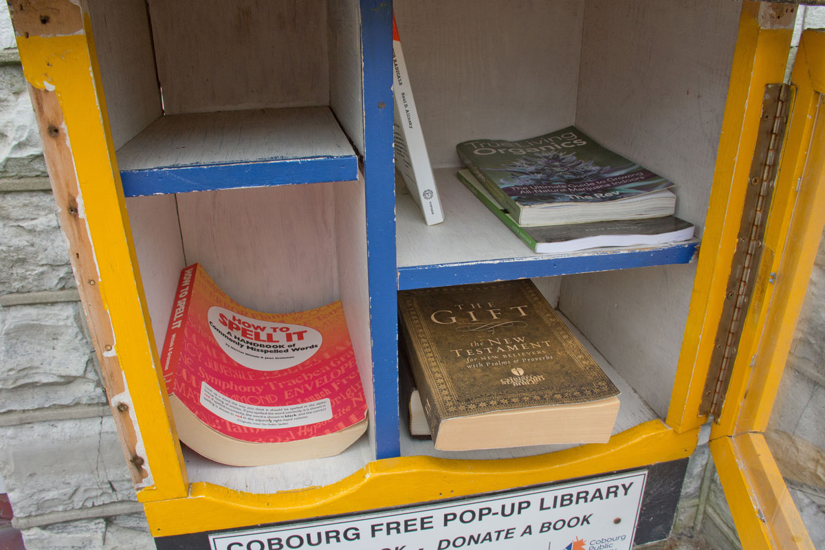 Inside Pop-up Library at Police Station