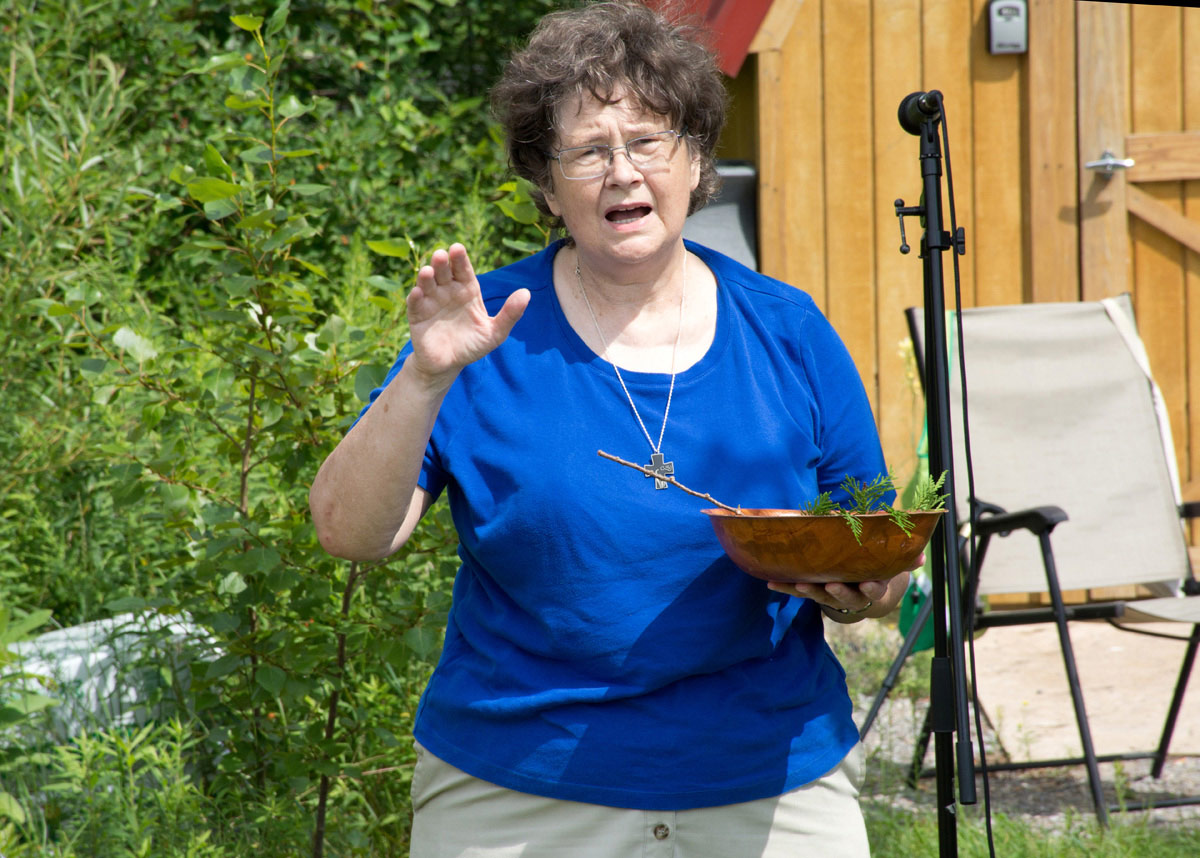 Sister Linda Gregg with Blessing