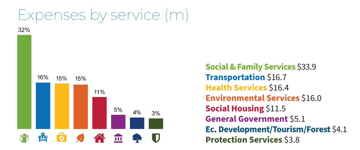 Expenses by Service