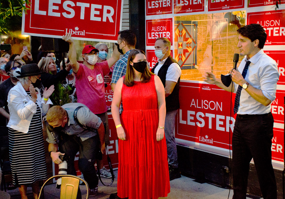 Justin Trudeau with Alison Lester