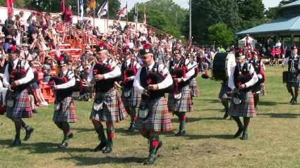 Cobourg Pipes and Drums at 2021 Highland Games